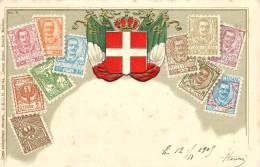 Réf : A -13- 1834 : Italie - Timbres (représentations)