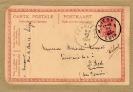 Carte Entier Postal Stationary Ganzsache Card Postcard Albert 1er Liège Luik Ferrières - Entiers Postaux