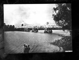 R 2013 01 24B  Photo Format Carte Postale,Indochine,TAN AN, Pont Sur Route Coloniale N°16,précisions Sur Scan 2 - Altri