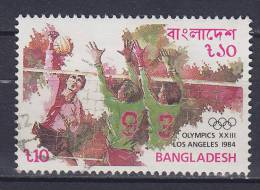 Bangladesh 1984 Mi. 222    10 T Olympische Sommerspiele Olympic Games Los Angeles Volleyball - Bangladesch