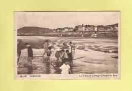 *  CPA..( 14 )..CABOURG :  Les Villas Et La Plage à L' Heure Du Bain  - ( 2 Scans ) - Cabourg