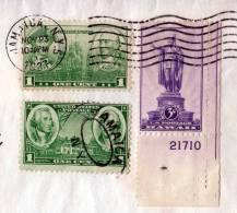 RAR!!! Brief USA - JAMAICA 1937, Seltene Schöne 3 Fachfrankierung - Jamaica (1962-...)