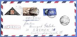 U.A.R. / United Arab Republic 1963; Luftpostbrief, Port Said > Bremen, Mit Schönen Frankaturen - Saudi-Arabien