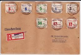ZONE SOVIETIQUE EMISSION LOCALE - 1946 - ENVELOPPE RECOMMANDEE De SPREMBERG - - Soviet Zone
