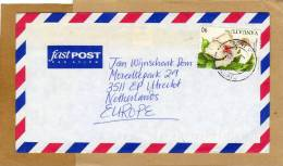 Enveloppe Brief Cover Fleur Fast Post Par Avion To Utrecht Netherlands - Vanuatu (1980-...)