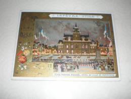 Chromo Fêtes Franco Russes - Hôtel De Ville De Compiègne, Illustrateur Loir Luigi, Biscuits Lefèvre Utile - Lu