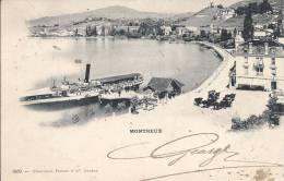 6133 - Montreux Le Vapeur Bonivard Au Port Et Calèches - VD Vaud