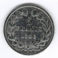5 Francs Argent , Louis-Philippe Ier 1836 K - France