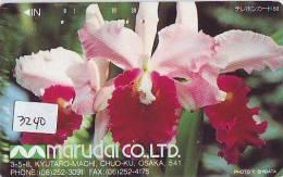 Télécarte Japon FLEUR * ORCHID (3240) Orchidée Orquídea Orchidee Orquidée Orchid * Flower Phonecard Japon - Bloemen