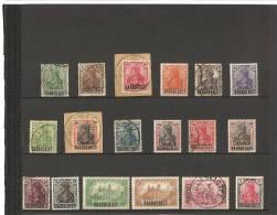 TIMBRES D'ALLEMAGNE DE 1905-20 Avec SAARGEBIET En Surcharge  N° 32  à  49 - 1920-35 Société Des Nations