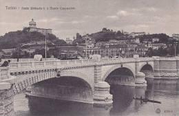 I - Torino - Ponte Umberto I E Monte Cappuccini (animata, Tram, Tramway) - Bridges