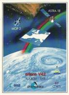 ARIANE V42 - Arianespace - KOUROU, ESPACE, CONQUETE SPATIALE - Autocollant TBon Etat (voir Scan) - Non Classés
