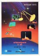 ARIANE V45 - Arianespace - KOUROU, ESPACE, CONQUETE SPATIALE - Autocollant TBon Etat (voir Scan) - Non Classés