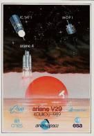 ARIANE V29 - Kourou 1989 - Autocollant TBon Etat (voir Scan) - Non Classés