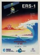 ARIANE V44 - Kourou 1991 - Autocollant TBon Etat (voir Scan) - Non Classés