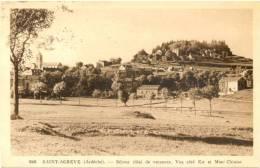 07/CPA - Saint Agreve - Vue Coté Est Et Mont Chiniac - Saint Agrève