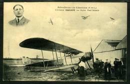 28 - CHARTRES - Aérodrome - L'Aviateur GARAIX Sur Biplan Paul Schmitt - Chartres