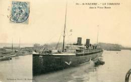 ST NAZAIRE - Bateaux - La Touraine, Dans Le Vieux Bassin_ - Commerce