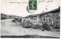 MOULOTTE - Une Rue / CPA Animée - Otros Municipios