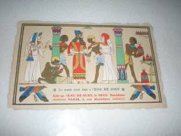 CPA L´Eau De Suez Le Seul Dentifrice N°3 - Illustration Scène Egypte Ancienne Hiéroglyphe Et Pharaon - Publicité