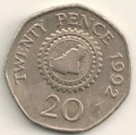 Guernsey 20 Pence KM#44    1992 - Guernesey