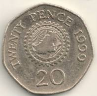 Guernsey 20 Pence KM#90    1999 - Guernesey
