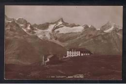 RB 917 - Early Real Photo J.J. Postcard - Zermatt Switzerland - Hotel Du Riffel - VS Valais