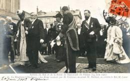 Arrivée Du Roi Et De La Reine Du DANEMARK En France 14 Juin 1907 Reception à CHERBOURG - FALLIERES - Recepciones