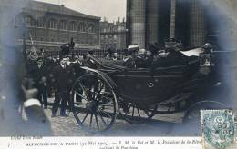 Alphonse XIII à Paris - Le Roi Et Le Président Quittent Le Panthéon - Recepciones