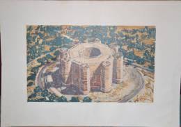 BRUNETTO  SILVIO Acquerello Di Castel Del Monte Puglia / ESAMINO OFFERTE - Acquarelli