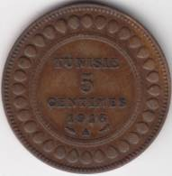 @Y@    Tunesië  5 Centimes 1916  XF   (C624) - Tunisie