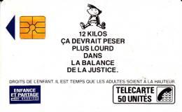 TELECARTE F84 UTILISEE -ENFANCE ET PARTAGE  COTE : 110 € - 1989