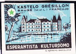 ESPERANTO KASTELO GRESILLON CINDERELLAS MNH. - Esperanto