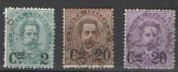 REGNO 1890-91  EFFIGIE UMBERTO I SOP.TI SERIE CPL. USATA - Usati