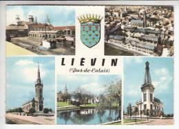 LIEVIN 80  -Multivues Colorisée ( Dont Mine Charbon ) - CPSM Dentelée GF N° 4 C - Somme - Lievin