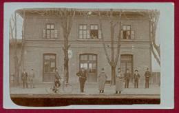 SERBIA-HUNGARY, BOGOJEVO-GOMBOS RAILWAY STATION ORIGINAL PHOTO PICTURE POSTCARD 1914 RARE!!!!!!!! - Serbie