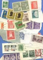 Über 80 Verschiedene Alte Briefmarken Aus Aller Welt, Gestempelt - Briefmarken