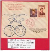 VIETNAM DU SUD  LETTRE 1953  DE SAIGON AVEC PROPAGANDE - Viêt-Nam