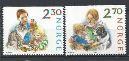 Norvège 1987 N°940/941 Neufs**  Noël - Noruega