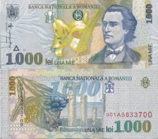 Romania P-106, 1000 Lei, Poet M. Eminescu /  Lily & Pier $2+CV - Rumania