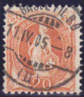 Helvetia Debout : No 66 E - 1882-1906 Armoiries, Helvetia Debout & UPU