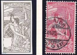 UPU No 78 B.Pf.3 + 4 - 1882-1906 Armoiries, Helvetia Debout & UPU