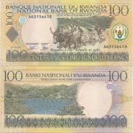 Rwanda P-29, 100 Francs, Plow W/oxen / Kiwu Lake At Kibuye - Rwanda