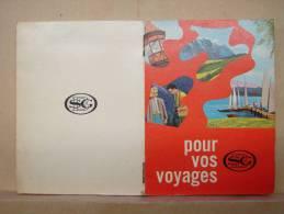 Pu. Ak7. Petit Livre Publicitaire Pour Vos Voyages. Banque De La Société Générale De Belgique 1964 - Publicités