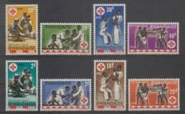 Rwanda (1963) Yv. 44/51  /  Rote Kreuz - Red Cross - Croix Rouge - Cruz  Roja - Croce Rossa - Red Crescent - Rode Kruis