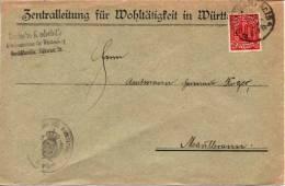 ALLEMAGNE GERMANY DEUTSCHES REICH SERVICE  22 (o) STUTTGART 1920 Kinderhilfe Brief Lettre - Allemagne