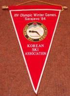 OLYMPIADE SARAJEVO 1984 , KOREAN SKI ASSOTIATION BANNER - Kleding, Souvenirs & Andere