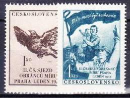 ** Tchécoslovaquie 1953 Mi 776-7 (Yv 682-3), (MNH) - Nuovi