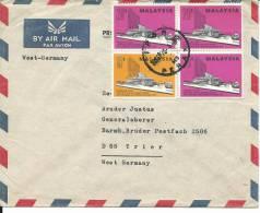 VE003 - LETTERA POSTA AEREA DALLA MALAISIA PER LA GERMANIA - 18.9.1976 - Malesia (1964-...)