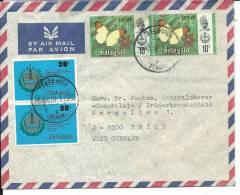 VE013 - LETTERA POSTA AEREA DALLA MALAISIA PER LA GERMANIA - 6.7.1978 - FARFALLE - Malesia (1964-...)